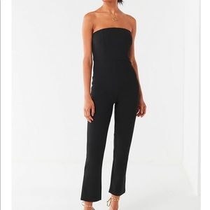 Urban Outfitters Strapless Sena Jumpsuit, Blk, Sm